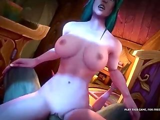 Crazy Monster Fuckpole Riders From Wow Porno Parody Game