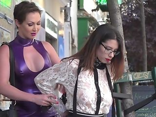 Zenda Sexy And Her Perverse Friend Adore The Abasement In The Public