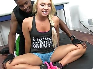 Blondie With A Braid Katerina Kay Having Orgy With A Black Stud