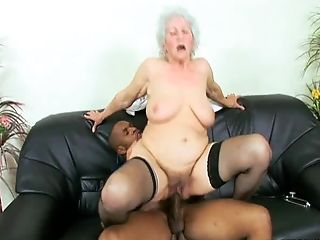 Granny Marimar With Big Bootie Railing Big Black Shaft