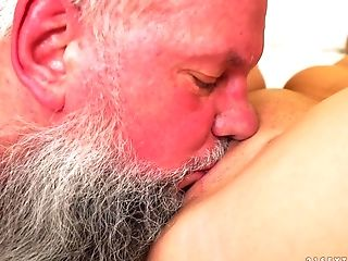 Tempting Youthfull Honey Liza Shay Lovin' Albert's Ancient Chisel