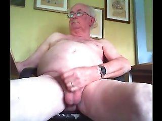 Grandfather Stroke On Web Cam