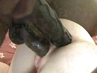 Pallid Big-titted Whore Monik Takes Massive Black Pecker Into Her Ass Hole
