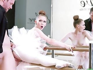 Alluring Ballerina In Milky Tutu Athena Rayne Gets Pink Slit Opened Up Well