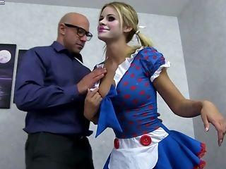 Arousing Blondie Maid Jessa Rhodes Had Intercourse Hard