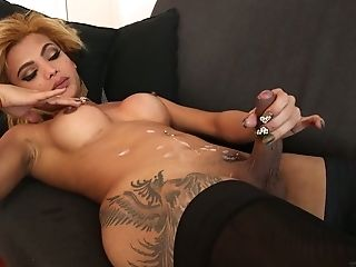 Light Haired Awesome She-creature Rayssa Barbie Is Always Into Wanking Herself