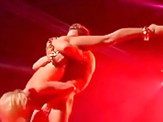 Amazing Hot Oriental Fuck On Public Display Stage