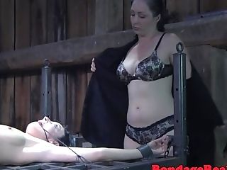 Pissing Fem Dom Predominates Corded Honey