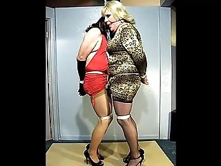 Two Crossdressing Hoes Tied Together