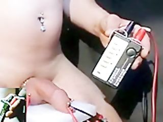 Webcam+ Webcam For Four Needles Prick Inwards Foreskin+pouch Estim Electrical Ejac