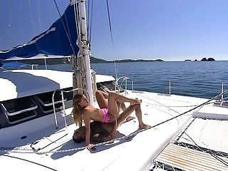 Model Olivia La Roche Gets Jizm In Mouth After Fucking On A Yacht