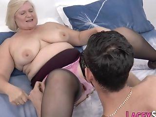 Fatty Grandmother Gets Her Hoochie-coochie Railed