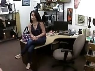 Native Beauty Banged On Desk In Pawn Shop Office