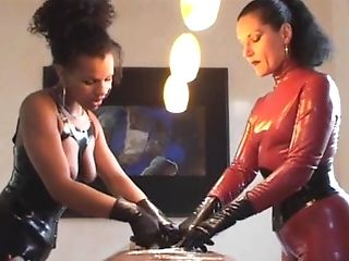 Good Sadism & Masochism Fuck-a-thon Session With A Duo Of Spandex-wearing Mistresses