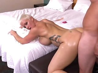 Huge-chested Blonde Mom Bj's Dick And Titty Fucks In Point Of View