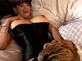 Big Tit Stunner In A Corset Gets Fucked In Her Sofa Hard