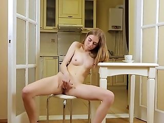 Shayla Is A Lovely Blonde Lollipop Teaser, Who Is About To Masturbate In The Kitchen, For Us