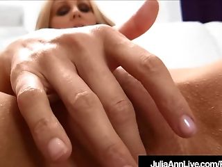 Award Winning Cougar Julia Ann Gargles On A Big Hard Man Meat Point Of View!