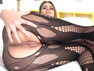 Lara West In Vulgar Bodystocking Gets In Forearms Of Nacho Vidal