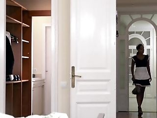Dark-hued Maid Noe Milk Bj's His Milky Weenie Like A Pro