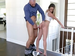 Bitchy Athena Faris Tempts Step-sister's Beau And Bangs Him Under Her Nose