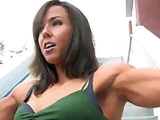 Bodybuilding girl fucked hard and cries