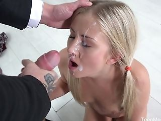 Amazing Long Legged Blonde Cowgirl Karolina Is Fond Of Being Fucked From Behind Also
