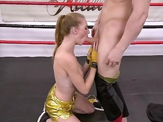 Hot Dirty-minded Blonde Gets Banged Hard In A Boxing Gym
