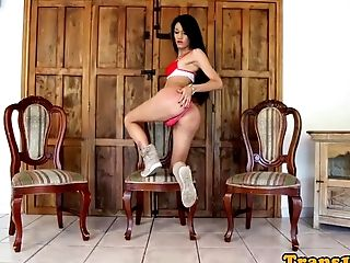 Beautiful Tgirl Delectations Herself