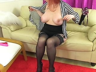 Buxom Matures Brit Red-haired Unexperienced Summer Angel Lee Has Immense Tits