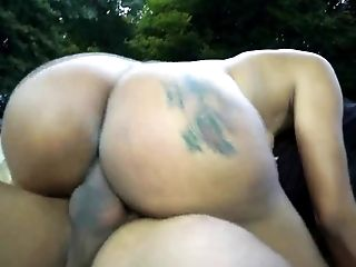 Hot Big Booty Brazillian Tranny  Doing It No Condom