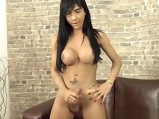 Ginormous Dick And Tits Transsexual Yasmine Dornelles Solo Session
