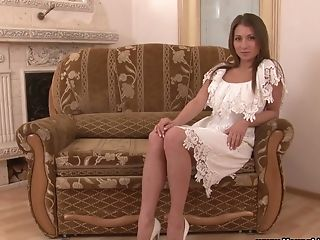 Bosomy Sweetheart Laura Gets Rid Of Her Milky Sundress As It Is Time To Rail Dick