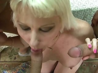 Real Cougar With Big Cupcakes Dalny Marga Works On Three Strong Fat Dicks