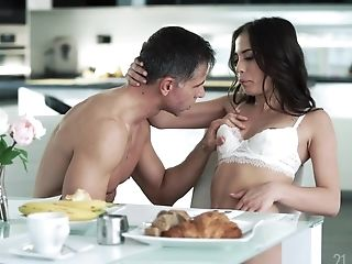 Gorgeous Honey Anastasia Brokelyn Is Eating Sperm Desert For Breakfast