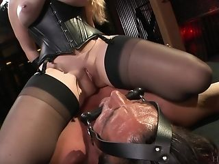 Sexy Black Costume On Aiden Starr's Assets Makes Her Friend's Jism