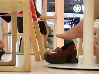 Sexy Footplay Of Learning Asian Students