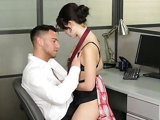 Porno Movie Where Spectacular Office Employee Fucks Colleague's Cootchie