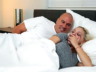 The bedroom cum sex in