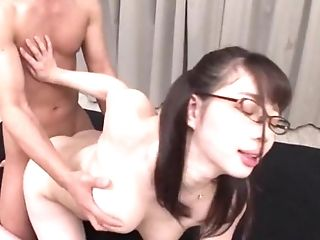 After Labia Eating Saitou Miyu Leaps On A Friend's Hard Penis On The Couch