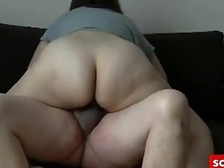 Horny Wifey Gets Fucked By Her Pervy Neighbor On Couch