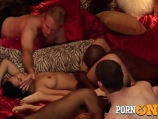 Yankee Swingers Meet In The Crimson Orgy Room To Make A Reality Their Sexual Fantasies.