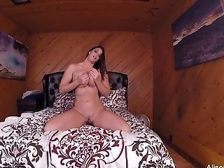 Big-chested Alison Films Herself Masturbating