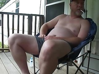 Spoken Redneck Teacher Porch Masturbate Off & Spunk