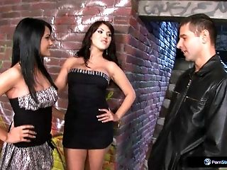 Bijou, Aida, And Totti In A Late-night Back Alley Threesome