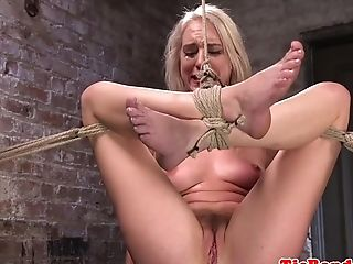 Gorgeous Enslaved Squirting While Tiedup