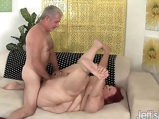 Immense Bbw Sweet Cheeks Has A Thick Hard-on Rammed In Her Cakehole And Cunt