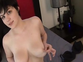 Sexy Honey With Large Tits Plays With Her Playthings