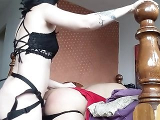 Bastienne Cross Pegging My Cousin/niece With My Strap On Dildo