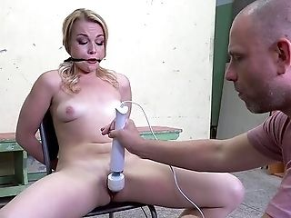 Servant Blonde Gets Clipped And Compelled Fucked